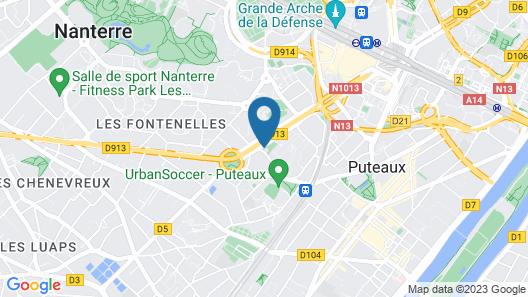ibis Styles Puteaux Paris La Defense Map