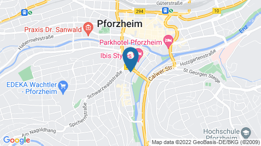 Modern 4BR Apartment in Pforzheim L8 Street Map