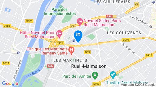 OKKO Hotels Paris Rueil -Malmaison Map