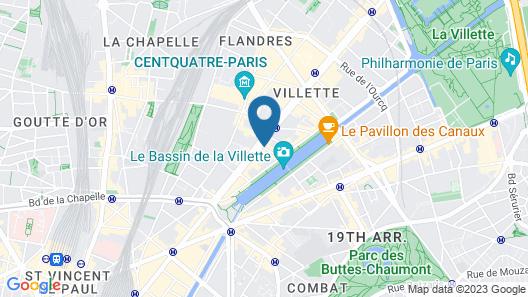 Hotel du Quai de Seine Map