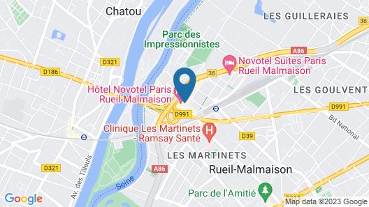 Novotel Paris Rueil Malmaison Map