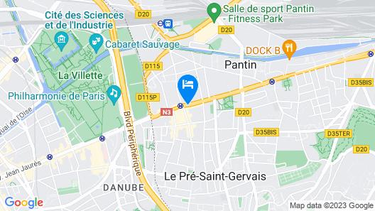 Campanile Paris Est - Pantin Map