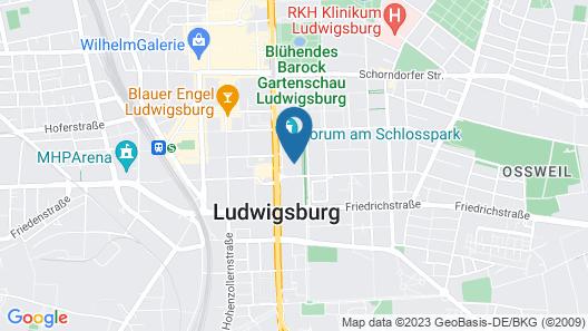 nestor Hotel Ludwigsburg Map