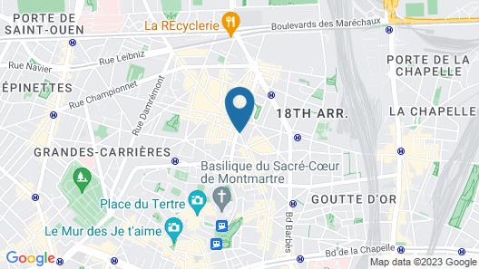 Le Montclair Montmartre by River Map