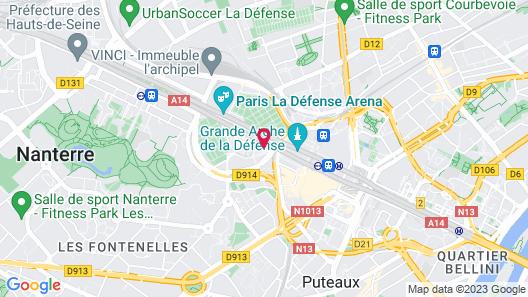 Renaissance Paris La Defense Hotel Map