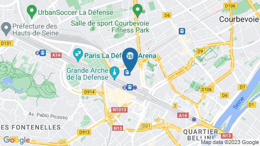 Hilton Paris La Defense Hotel Map