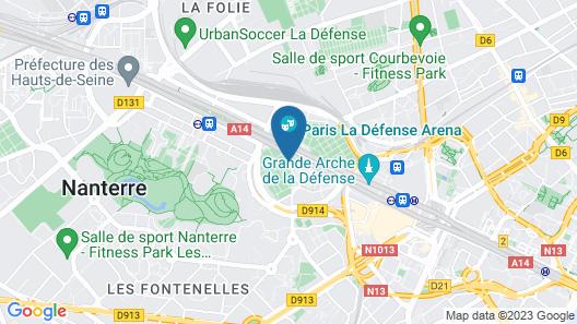 CitizenM Paris la Défense Map