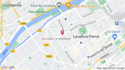 Hôtel Mercure Paris Pont de Levallois Neuilly Map