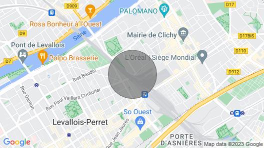 Charmant 2 Pièces Clichy Levallois à 5 min en Train de Paris Saint Lazarre Map