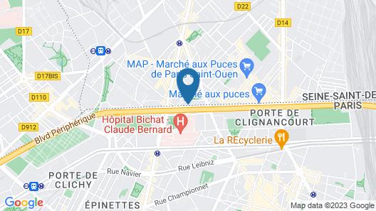 hotelF1 Paris Saint-Ouen - Flea Market Hotel Map