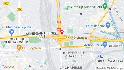 Novotel Suites Paris Nord 18ème Map