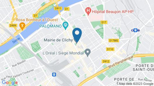 Ibis Styles Paris Mairie de Clichy Map
