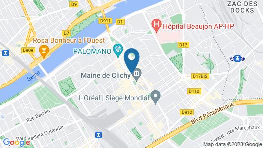 ibis Clichy Centre Mairie Map