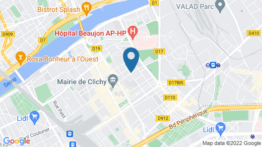 Le Paname Clichy Map