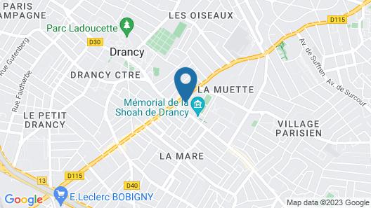 Chambre privée à Drancy Map