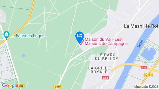 Chateau du Val Map