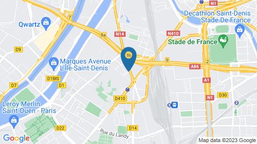 B&B Hotel Paris Saint-Denis Pleyel Map