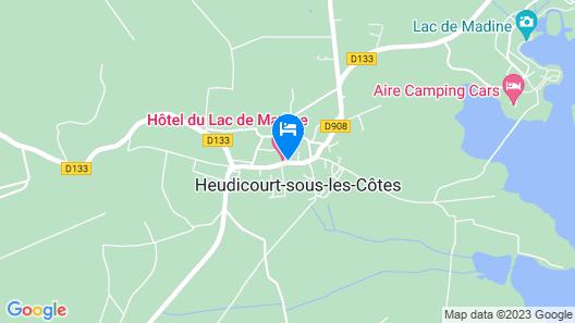 Hotel Restaurant Du Lac de Madine Map