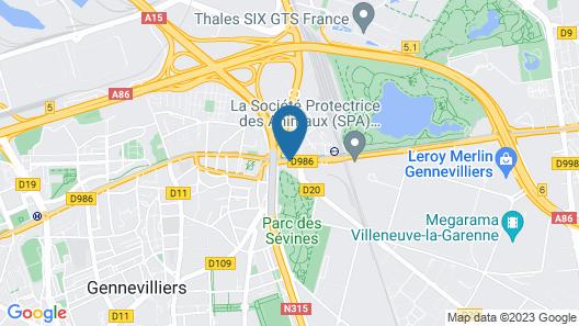 Première Classe Paris Ouest - Gennevilliers Barbanniers Map