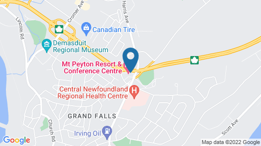 Mount Peyton Resort and Conference Centre Map