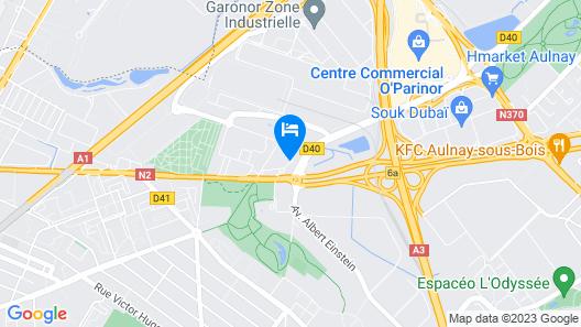 Kyriad Le Blanc Mesnil Map
