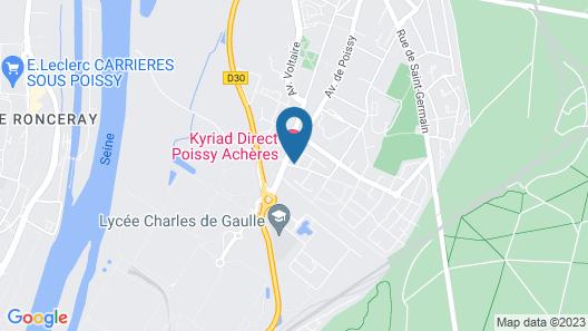 Kyriad Direct  Poissy - Acheres Map