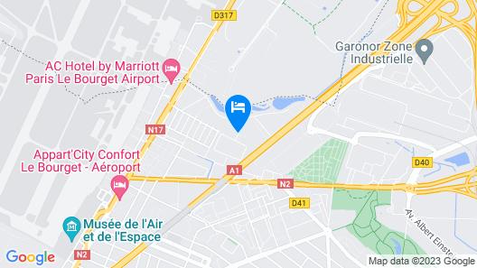 Mercure Paris Le Bourget Map