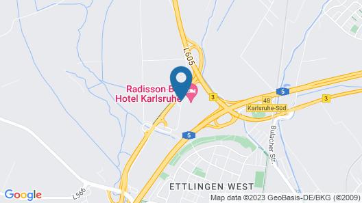 Radisson Blu Hotel, Karlsruhe Map