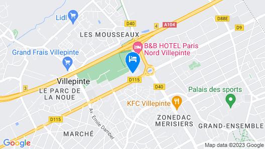 Hotel Campanile Villepinte - Parc des Expositions Map