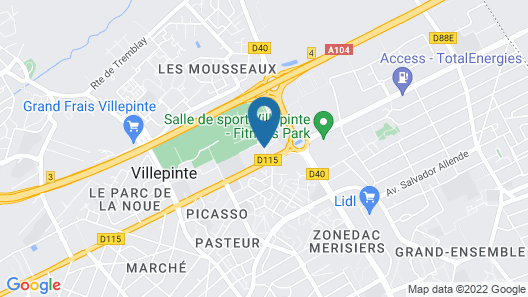 B&B Hotel Paris Nord Villepinte Map