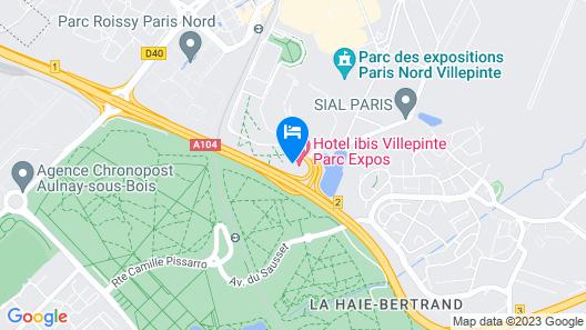ibis Paris Villepinte Parc des Expos Map