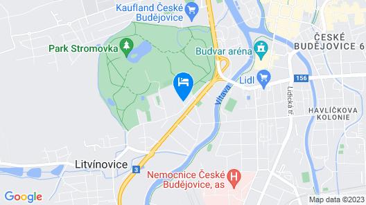 Villa Resort Dlouhá louka Map