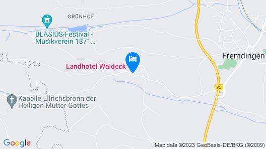 Landhotel Waldeck  Map