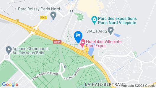 hotelF1 Villepinte Parc des Expositions Map