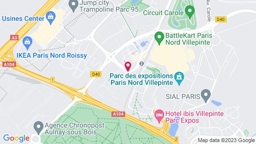 CYAN HOTEL ROISSY VILLEPINTE PARC DES EXPOSITIONS Map