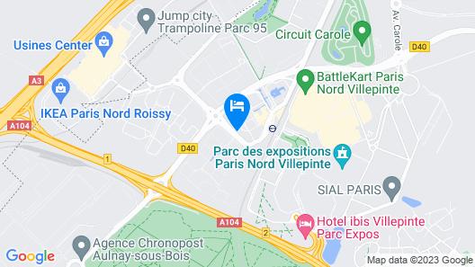 KYRIAD ROISSY VILLEPINTE - Parc des Expositions Map