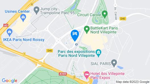 ibis Styles Parc des Expositions de Villepinte Map