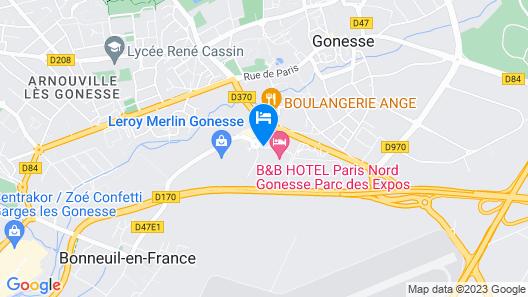 Première Classe Paris Nord - Gonesse - Parc Des Expositions Map