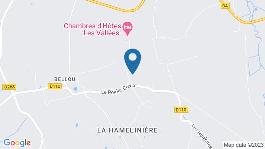 Chambres d'Hôtes - Les Vallées Map