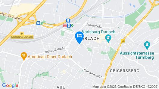 Hotel Der Blaue Reiter Map