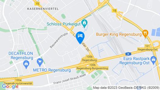 Mercure Hotel Regensburg Map