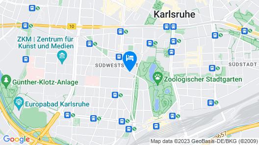 Arthotel ANA Eden Karlsruhe Map