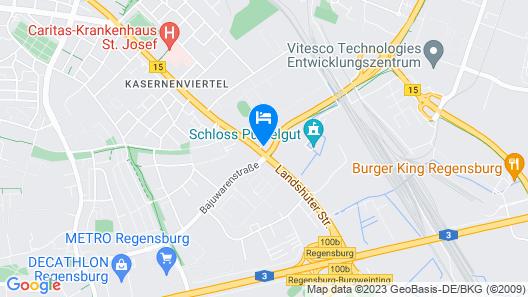 B&B Hotel Regensburg Map
