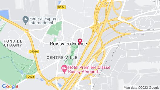 Paris Marriott Charles de Gaulle Airport Hotel Map