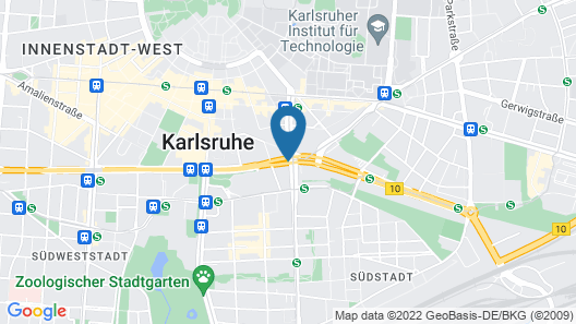 ACHAT Hotel Karlsruhe City Map