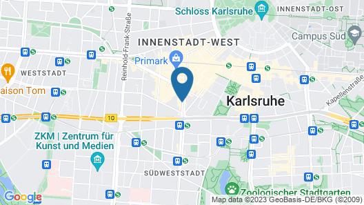 133 Boutique Hotel Karlsruhe Map
