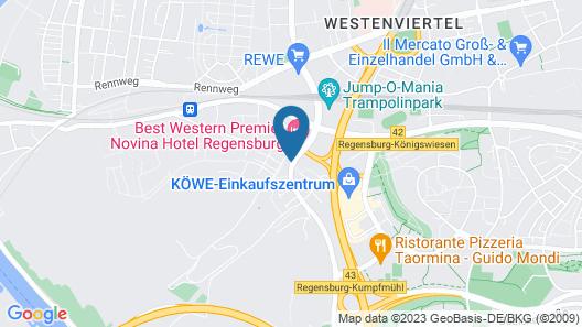 Best Western Premier Novina Hotel Regensburg Map