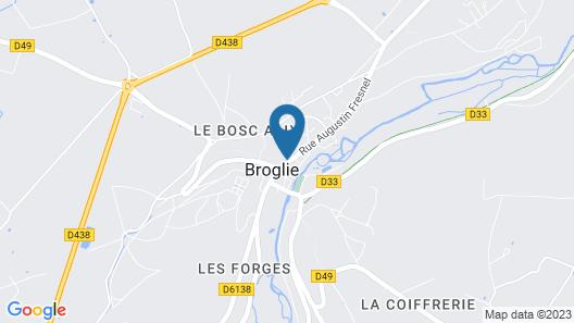 Le Gîte de L'escale de Broglie Map