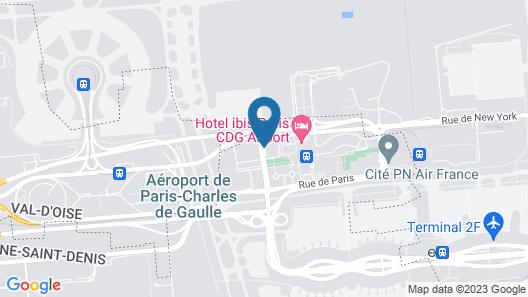 Hilton Paris Charles de Gaulle Airport Map