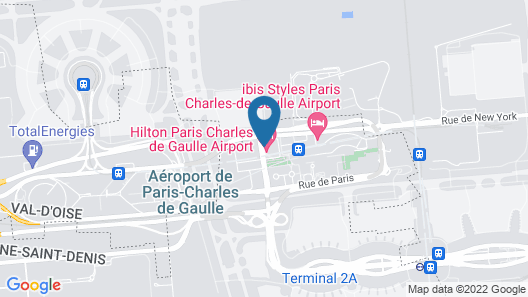 Hilton Paris Charles de Gaulle Airport Map